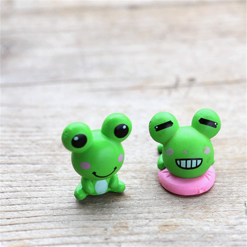 Figurines Sculpture Made From Resin Break Book Frog Statue Garden Dis Play
