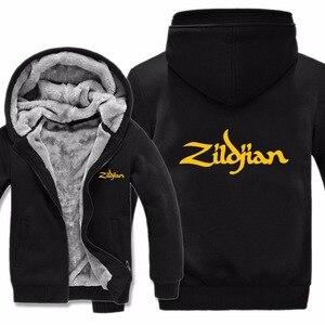 Image 5 - Neue Winter Zildjian Hoodies Jacke Männer Lässig Dicke Fleece Hüfte Hop Zildjian Sweatshirts Pullover Mann Mantel