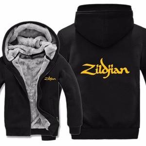Image 5 - New Winter Zildjian Hoodies Jacket Men Casual Thick Fleece Hip Hop  Zildjian Sweatshirts Pullover Man Coat
