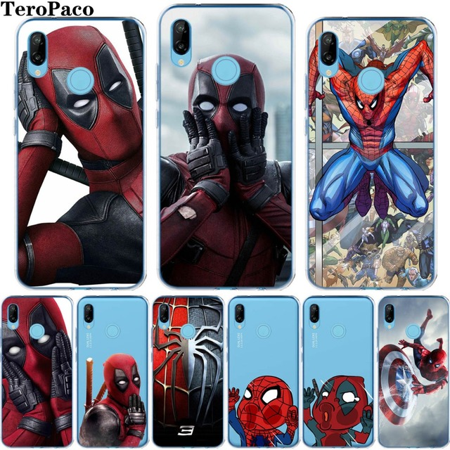 Us 131 29 Offcool Deadpool Spiderman Marvel Superhero Clear Soft Silicone Case C For Huawei P8 P9 P10 P20 Mate10 Lite Pro Plus 2017 Y5 Y6 Ii In