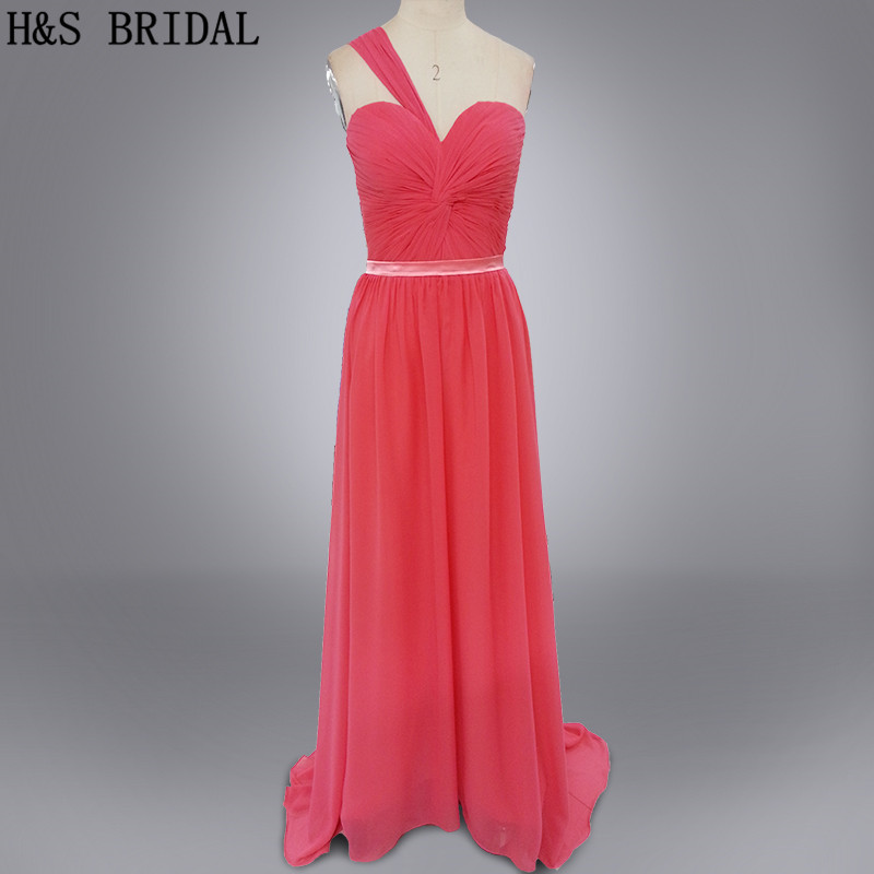 Real Model Sweetheart one shoulder   bridesmaid     dress