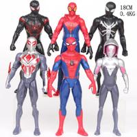 18 CM Movie SpiderMan Homecoming Gwen Stacy Spider Woman Spider Man With Led Light Cartoon Toy