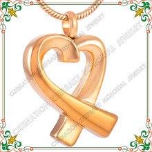 Cmj8938 acero inoxidable vendedor caliente de cremación joyería colgante conmemorativo de cenizas collar impermeable de oro