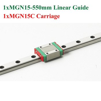 MR15 15mm Mini Linear Guide 550mm MGN15 Linear Motion Rail With MGN15C Linear Block Cnc Kossel