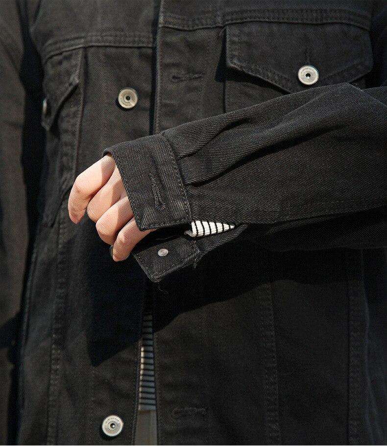 2019 jeans Delle Donne giacca nera lunga basical giacca di jeans cappotto monopetto Completa Maniche BF Donne allentate di modo Denim cappotti