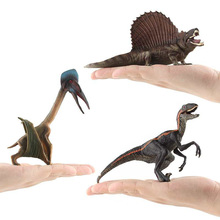6 Kidns Simulation Velociraptor/Pterosaur Dinosaur Figure Collectible Toys Animal Action Figures Kids Soft Rubber