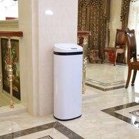 50L 401 квадратные умные ручные сенсорные мусорные банки из нержавеющей стали для дома, гостиной, кухни, Европейского отеля, виллы, японской оф