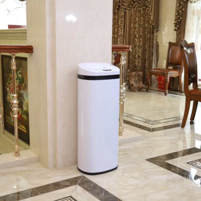 50L 401stainless steel square smart hand sensing trash cans home living room kitchen European hotel villa Japan office kitchen50L 401stainless steel square smart hand sensing trash cans home living room kitchen European hotel villa Japan office kitchen