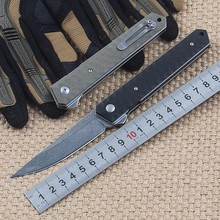 New tactical folding knife hunting camping pocket knife VG10 blade G10 handle survival utility knives EDC hand tools