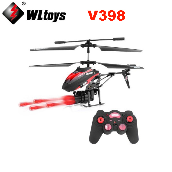 WLtoys V398 RC Helicopter 3 5 CH Missiles Launching IR Remote Control Helicopter with Gyro LED