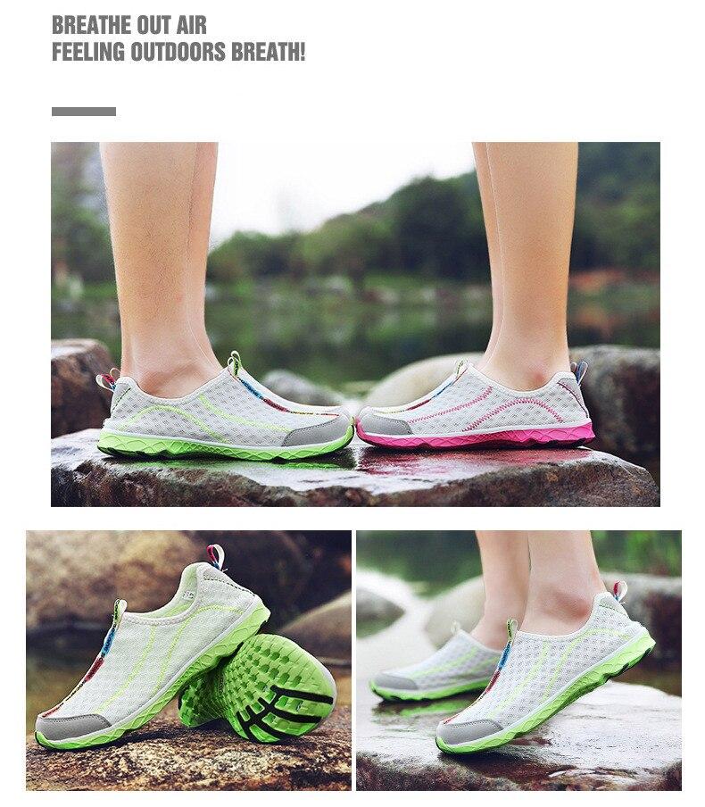 as mulheres sapatos de esportes respiráveis tênis de caminhada dos homens