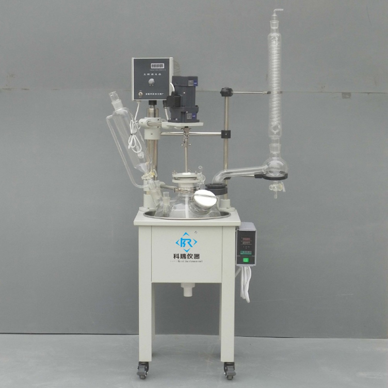 Laboratory equipment manufacturers china fermentor Bioreactor glass distillation 10L Chemical mixing reactor все цены