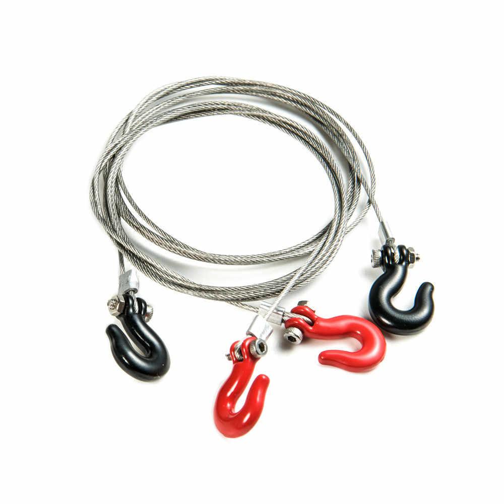 1:10 RC Гусеничный аксессуары стальной трос для буксировки с крючками для осевой SCX10 TAMIYA по супер скидке CC01 D90 RC подъемник, цвета: черный и красный