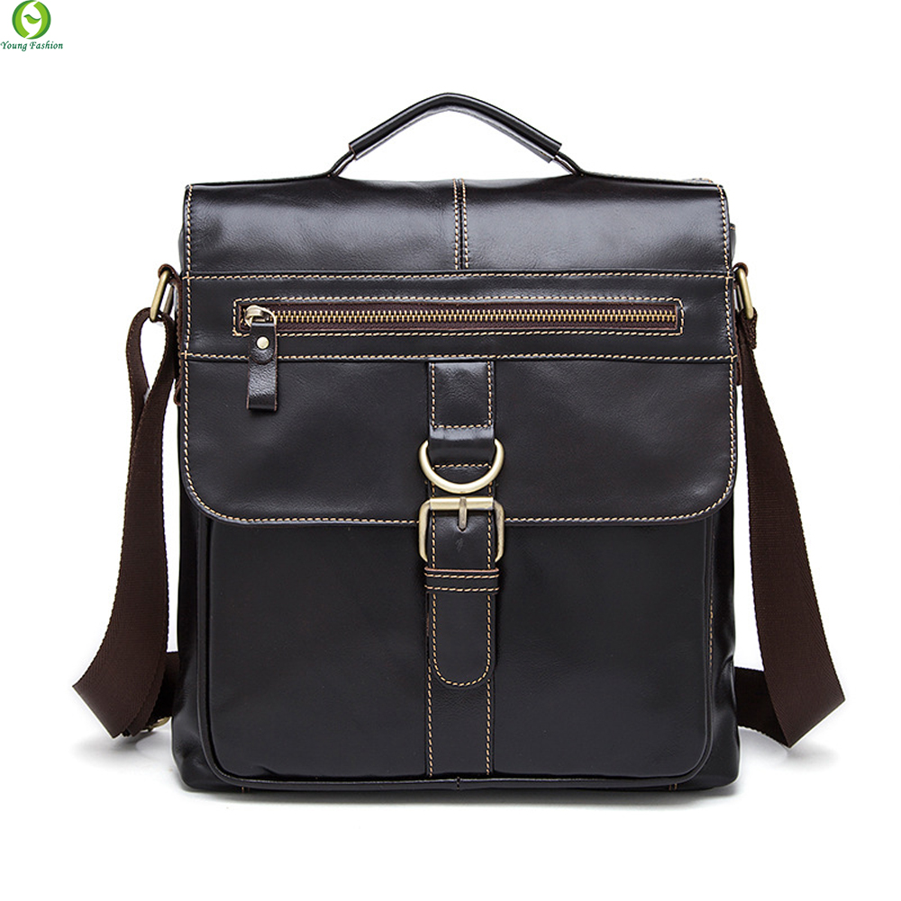 100% Genuine Leather Men Bag Fashion men messenger bags shoulder Business Mens Briefcase Casual crossbody Handbags Tote man Bag