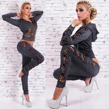2016 hot sale women Spring/Autumn Set Print plus size Running Sportswear Two-Piece Leisure Sport Suit sport suit