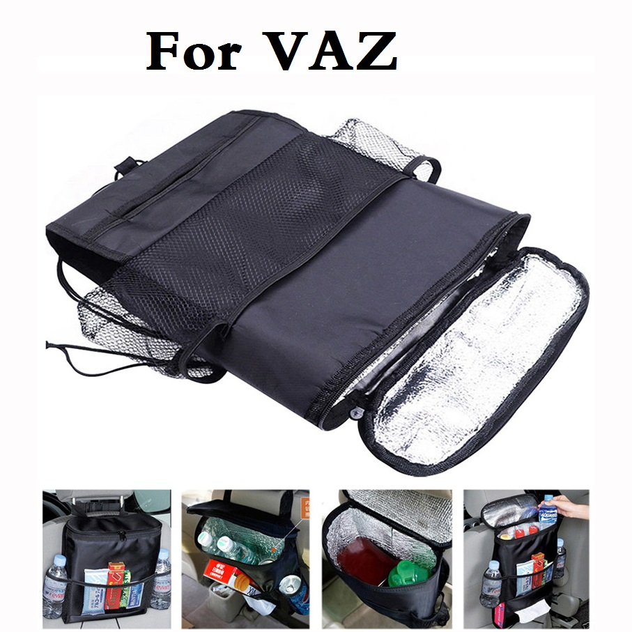 Car Style Auto Care Cooler Multi Pocket Bag Back Seat For VAZ 2104 2109 2111 2121 (4x4) EL Lada Kalina Largus Priora Revolution