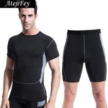 2018 Suit Running Fitness jogging Gym Sports Yoga set Jersey activewear Men Tracksuit High Elastic Workout Football Sportswear