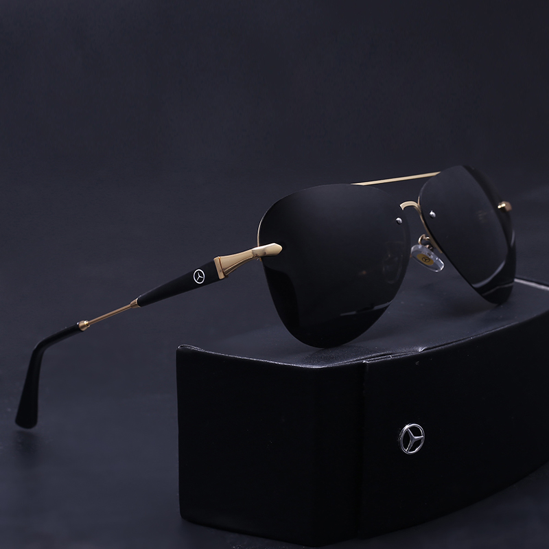 High Quality Brand Polarized Sunglasses Men UV400 Men's Driving Sun Glasses Rimless Oculos Gafas De Sol Hombre With Original Box