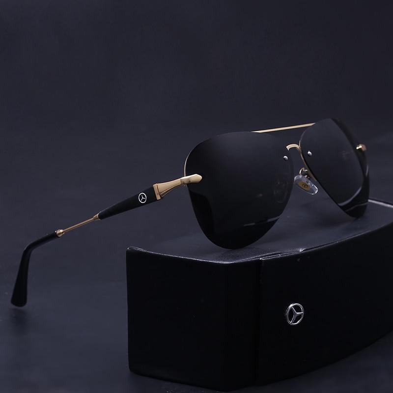 Haute qualité marque lunettes de soleil polarisées hommes UV400 hommes conduite lunettes de soleil sans monture oculos gafas de sol hombre avec boîte d'origine