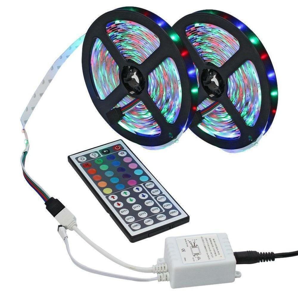 44 Key IR Remote Controller Flexible RGB 10M LED Light Strip 3528 SMD 600LEDs