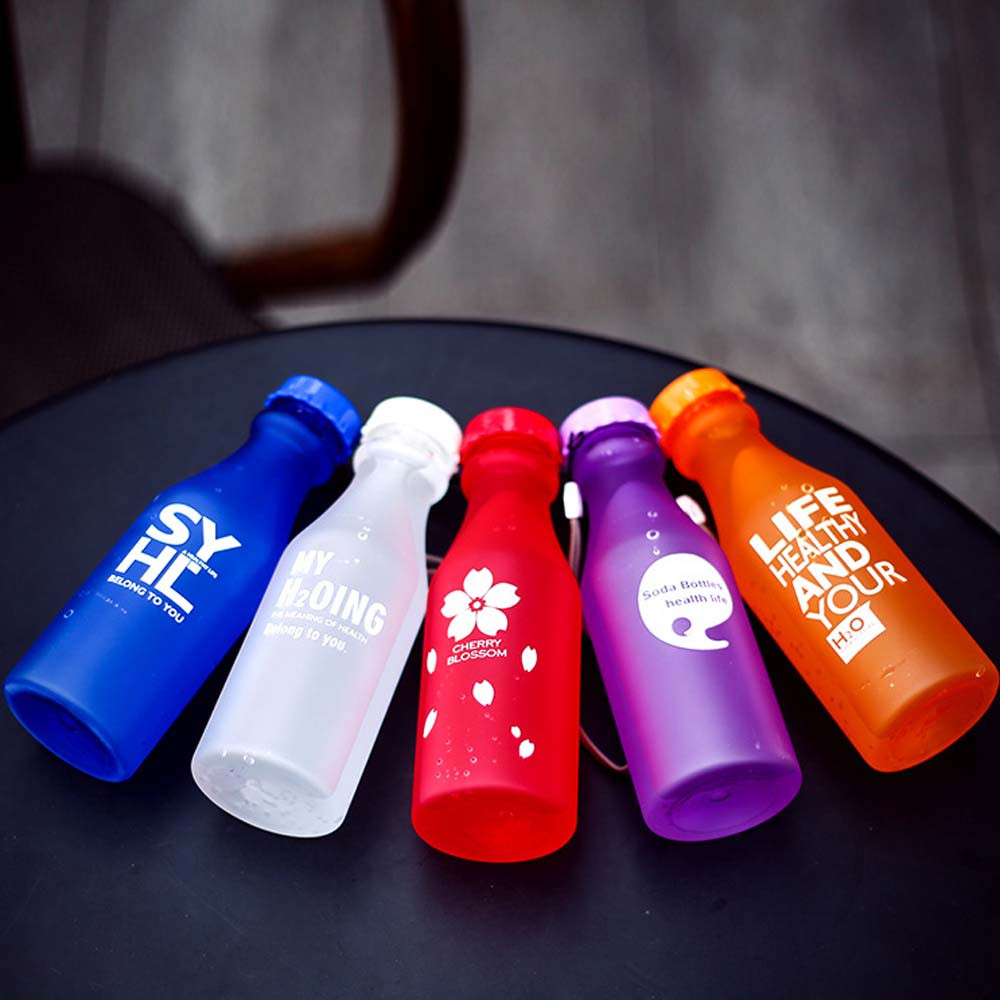 Unbreakable Outdoor Sports Travel Water Bottle Portable Leak-proof Cycling Camping Water 550ML Con Botella De Cordon #P