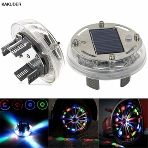 KAKUDER 4 Mode 12 LED Car Auto Solar Energy Flash Wheel led car tire lights Lamp Decoration 1PC TJ