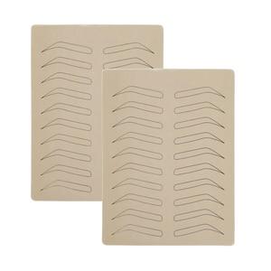 Image 5 - 10PCS גומי עיסוק עור מזויף False גבות ריק עור פיגמנט משלוח עבור Microblading קבוע איפור קעקוע אימון ללמוד