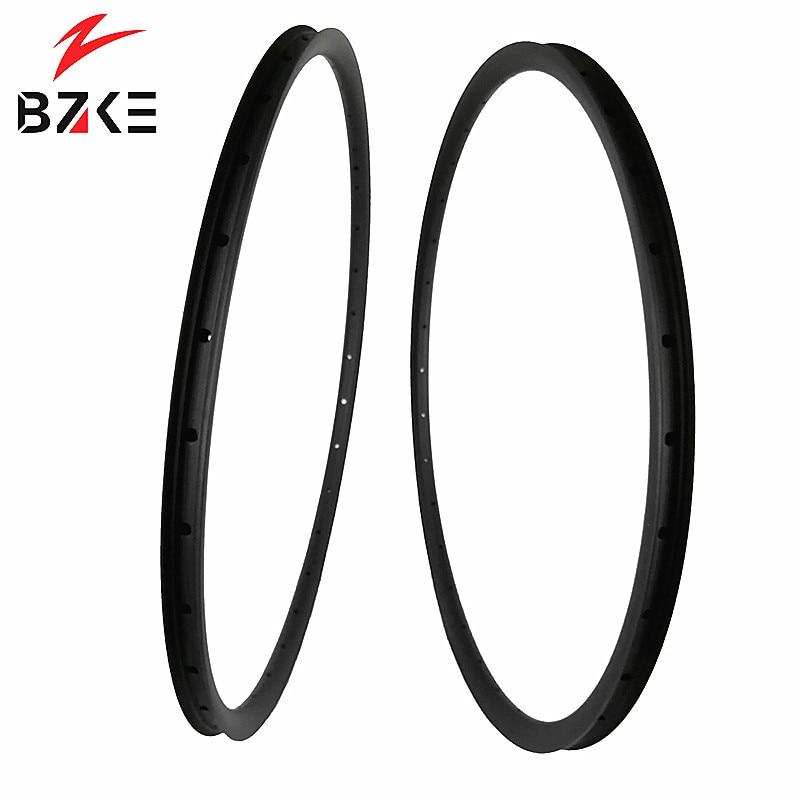 BZKE carbon fiber rim mtb 29 inch carbon rims 30mm width asymmetric 29 mtb rim UD
