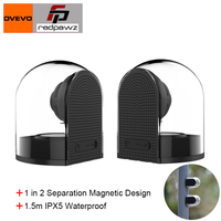 2018 OVEVO D18 3D 1 in 2 Magnet Bluetooth 4.2 Speakers with Mic Transparent Home Stereo Surround HiFi Phone PC Outdoor Speaker