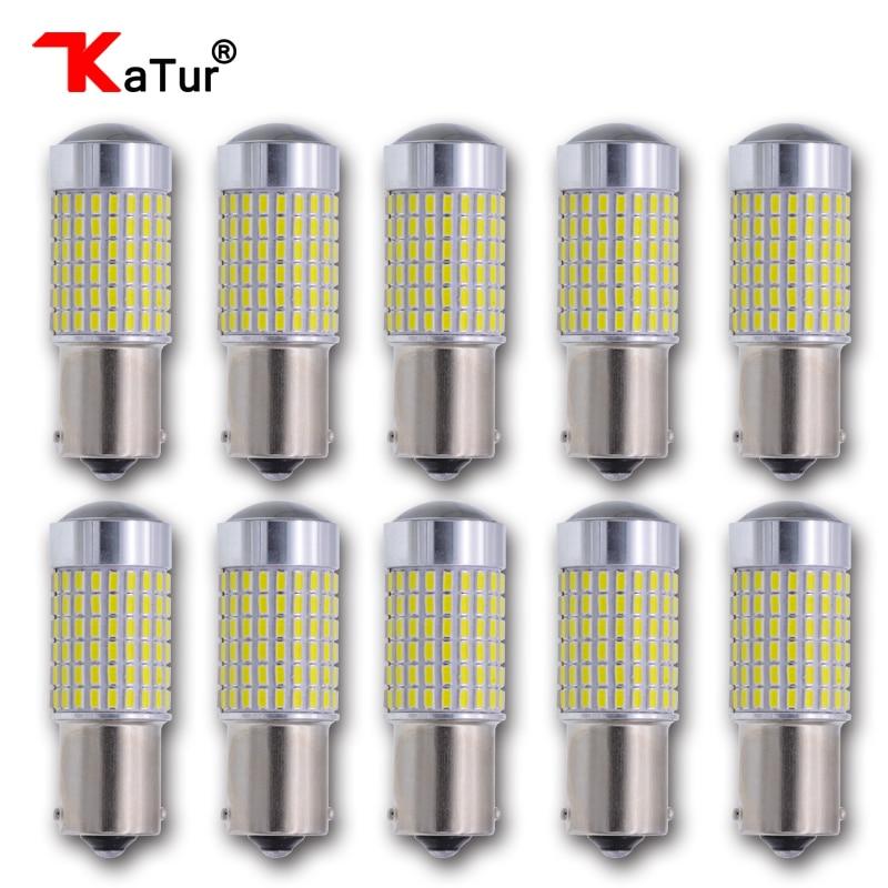 10 шт 1156 P21W BA15s из светодиодов автомобилей сигнала поворота света одним контактом объективом проектора свет лампы супер качество Оптовая продажа основная Цена