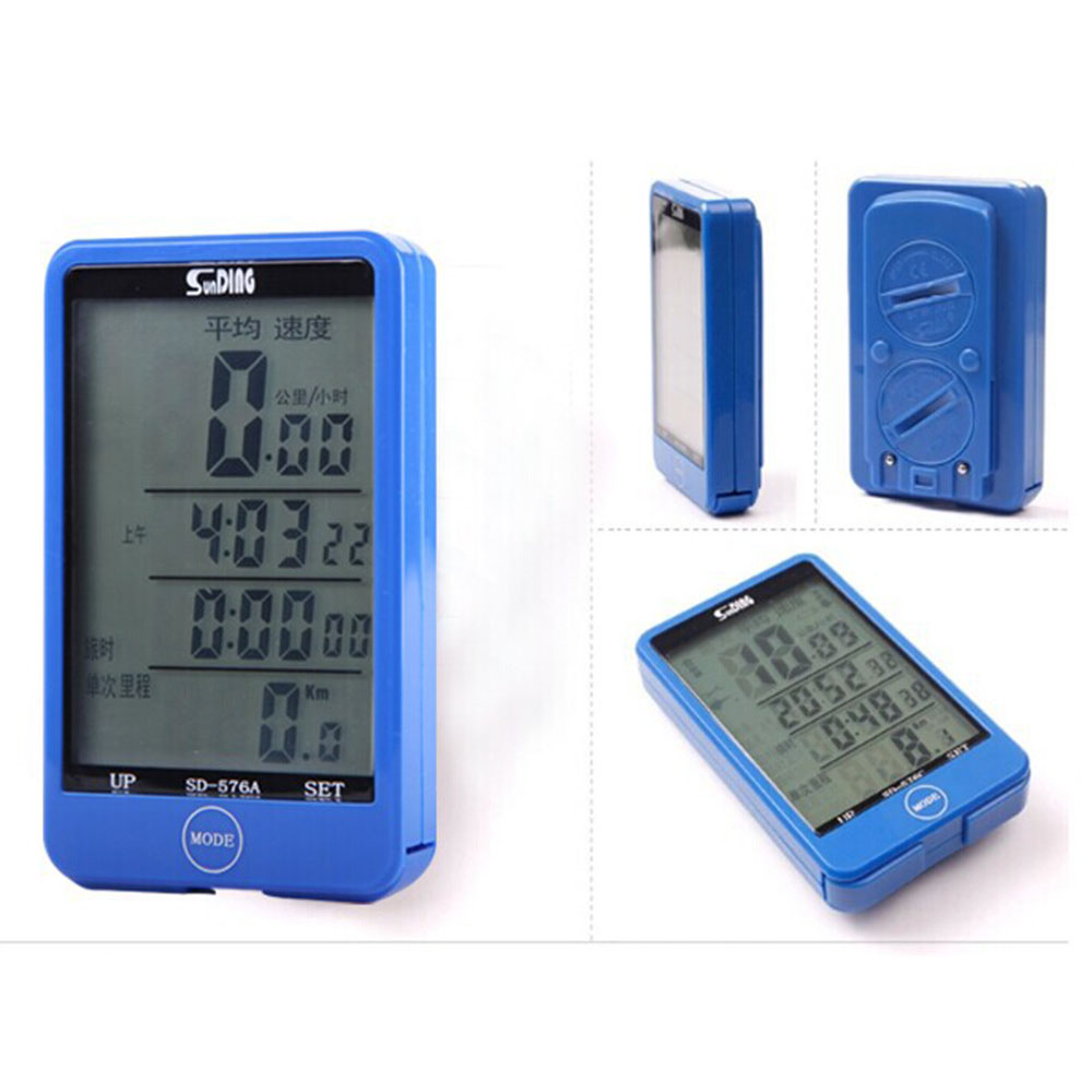 10pcs SD-576C Wireless LCD Backlight Bike Bicycle Computer Odometer Multifunction Touch Button LCD Computer Bicycle Backlight
