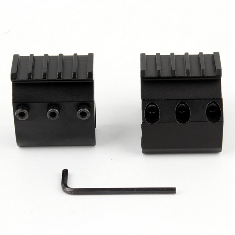 Image 4 - 1pc 2 Styles Single/Double Tube Shotgun Picatinny Rail Adaptor for 20mm Rail Mount Hunting Tactical Accessories-in Scope Mounts & Accessories from Sports & Entertainment