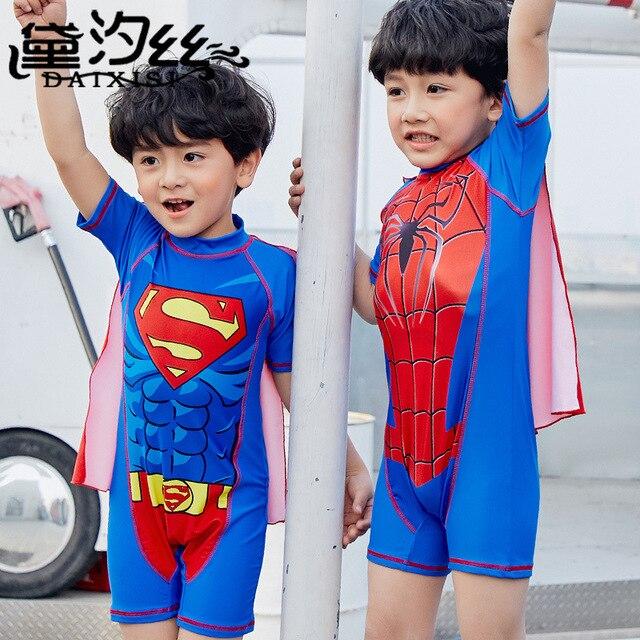 1f8dc39501 Cartoon Spider Man Child Swimwear Swimming Pool Swimwear Children Swimsuit  Kids Beach Wear Bathing Suit One Piece Baby Swimsuit