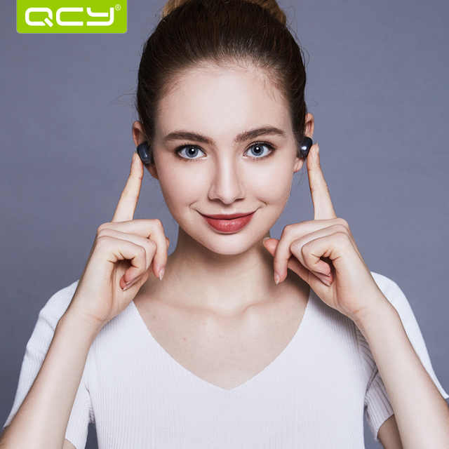 QCY Q29 Bluetooth Earphones Sport Running Wireless Headset Noise Cancelling 3D Stereo Earbuds with Mic and Charging Box