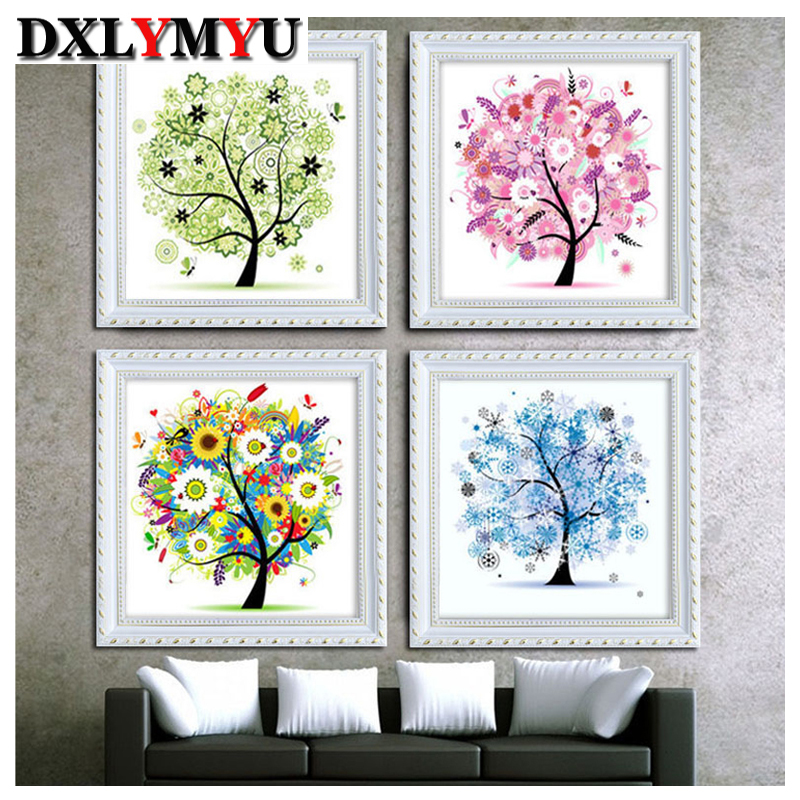 Diy diamond embroidery stick drill cross stitch 5d diamond painting rhinestone mosaic painting pasted flower home decor gife