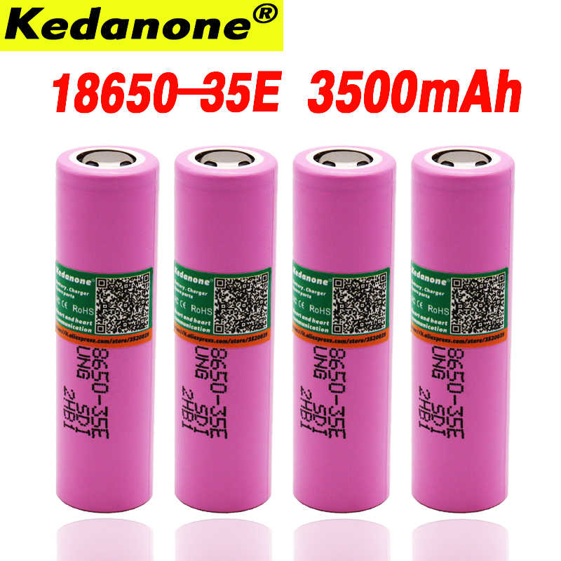 100% מקורי inr18650 35e עבור samsung 18650 3500mAh 13A פריקה INR18650 35E 18650 סוללה ליתיום 3.7v rechargable סוללה