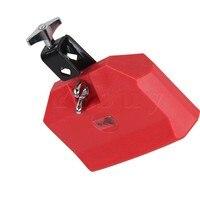 Red Eco Friendly Plastic Percussion Instruments Block Latin Drum Kit