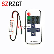 Mini DC12V  Led Controller Dimmer 12A Wireless RF Remote to Control Single Color Strip Lighting 3528 5050 led strip