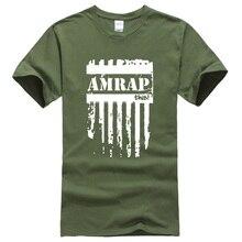 Прочный Шарм AMRAP с буквенным принтом мужские футболки crossfit футболка для мужчин спортивная одежда фитнес harajuku Спортивная футболка