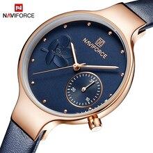 NAVIFORCE Women Watches Luxury Brand Fashion Quartz Ladies Rhinestone Watch Dress Waterproof Watch Simple Clock relogio feminino