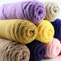 Wholesale 5 Balls 500g Knitting Yarn Baby Cotton Silk Wool Eco-Fridenly Color Spinning Crafts Warm Soft Strickwolle hand knit