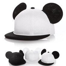 2017 children Lovely Mickey Big Ears Baseball Cap Girls Cute Mouse Hip Hop Caps Casual Summer Mesh Sun Hats Casquette Gifts