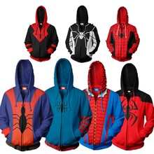 Avengers: Endgame Spider man Costume Movie Spiderman Into the Spider-Verse Cosplay Hoodie Sweatshirt Jacket Coats New 2019