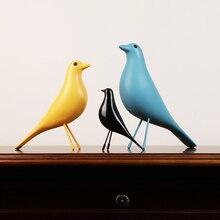 Resin Craft Bird Figurine Statue Office Ornaments Sculpture Home Decoration Accessories Bird Sculpture Desk Decoration mrzoot 2pc golden golden bird roman column decoration resin complex sculpture home decoration retro creative magpie bird statue