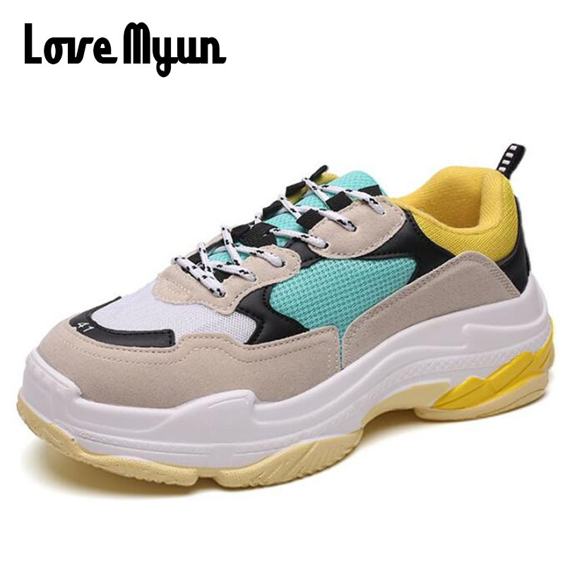 2018 New Brand Fashion girl Sneakers Casual Flats Shoes Women air Mesh Red Black Gym Shoes Couple Trainers Breathable HH-044