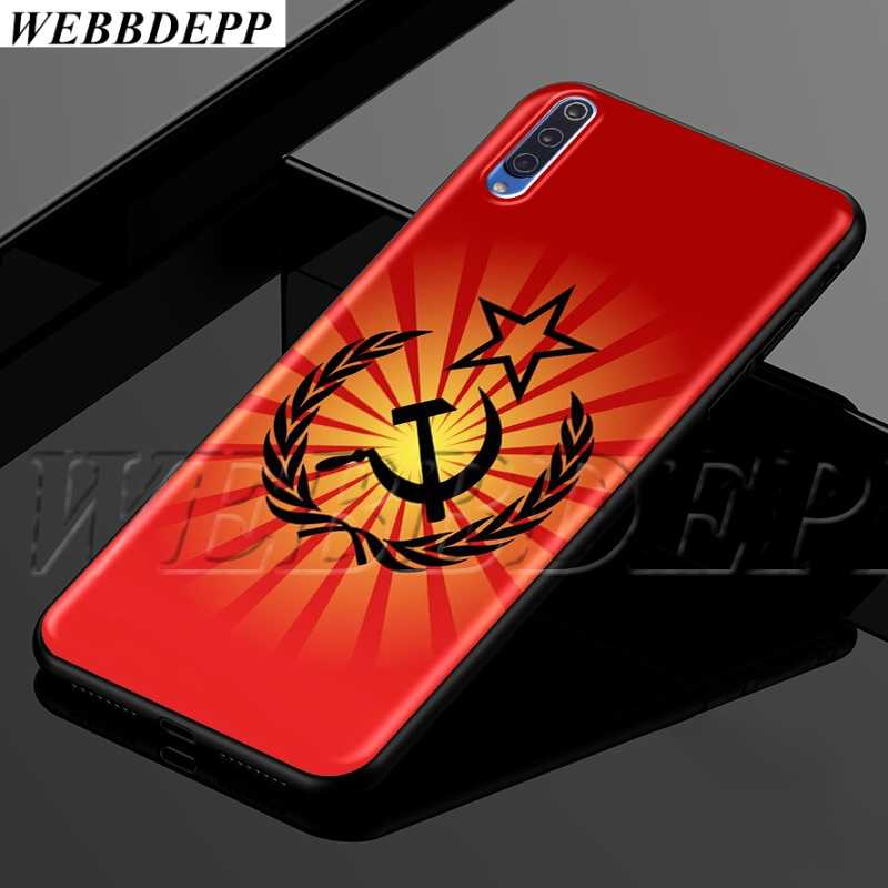 WEBBEDEPP ברית המועצות ברית המועצות דגל רך TPU מקרה עבור שיאו mi אדום mi mi הערה 8t 10 מקסימום A1 a2 5X6X3 6 8 9 SE F1 לייט