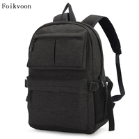 Foikvoon Men Laptop Backpack Computer Anti theft Bags Male Gray Daypack Women Mochila Business Travel Bags