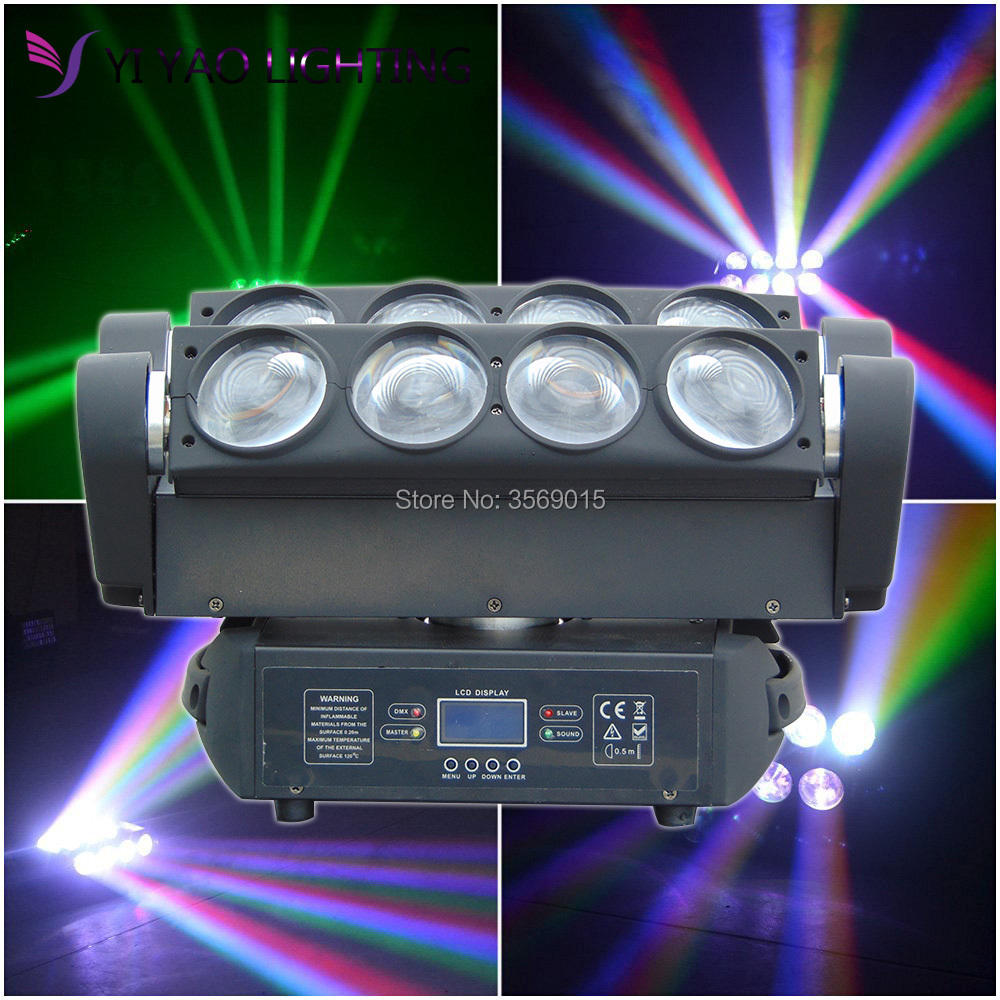 8X12W RGBW 4in1 LED Spider Stage Moving Head Light DMX Bar KTV DJ Disco Lighting