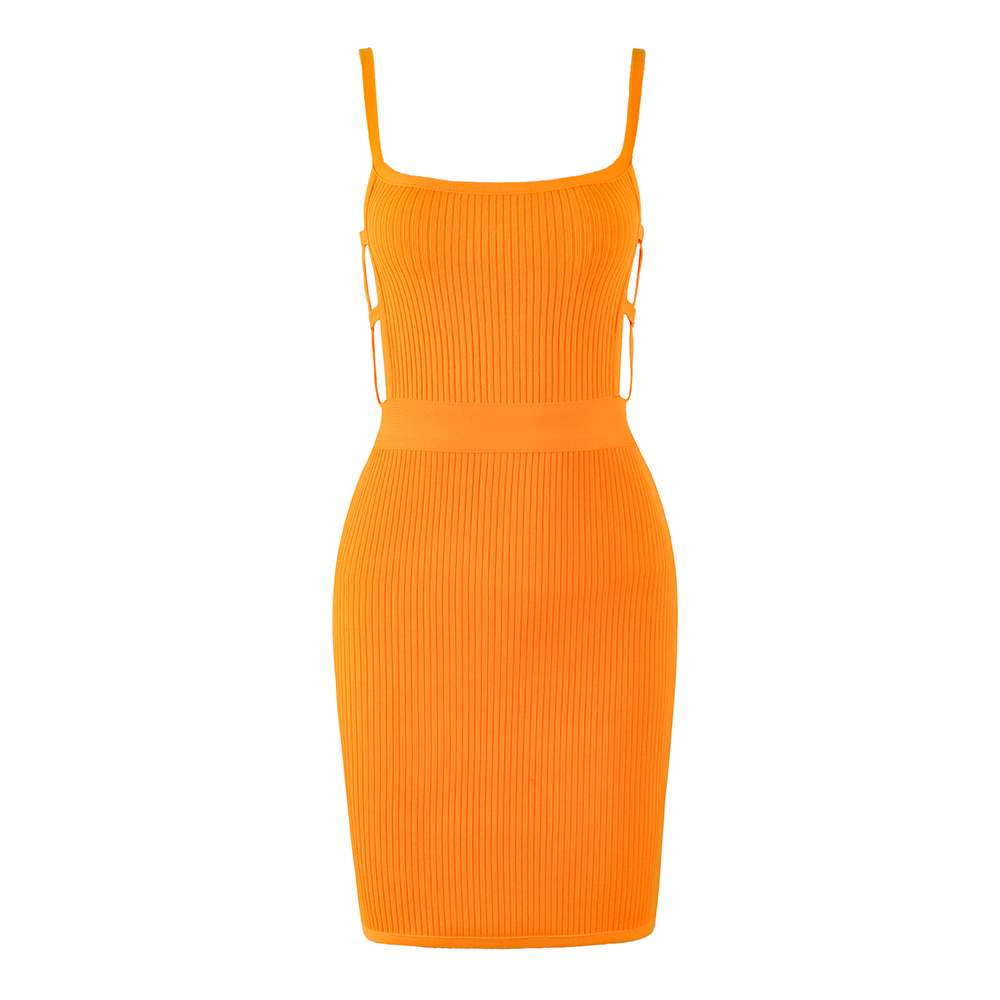 Solid-Nude-Sexy-Backless-Orange-Bandage-Dress-2019-Knitted-Elastic-Party-Dress (2)