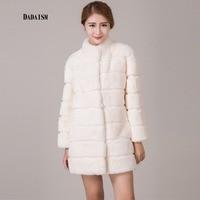 2017 new fur coat female models Rex Rabbit hair warm Slim type collar collar fur Office Lady jacket free shipping